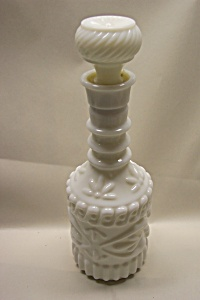 Milk Glass Liquor Decanter/bottle