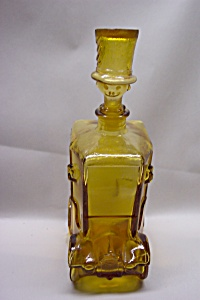 Italian Handblown Glass Automobile & Clown Decanter