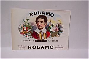 Rolamo Cigar Box Label