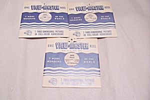 Set Of 3 View-master Reels On Switzerland