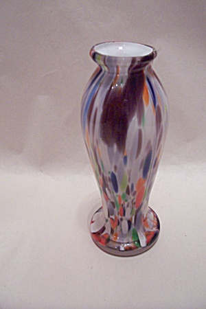 Handblown End-of-day Cased Art Glass Bud Vase