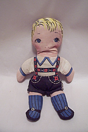 German Handmade Fabric Boy Doll
