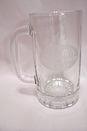 Uptown Reno & Abc Bowling Crystal Glass Beer Mug