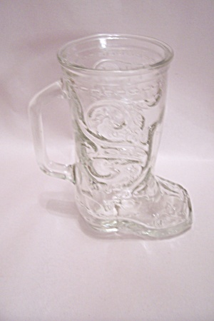 Cowboy Boot Crystal Glass Beer Mug
