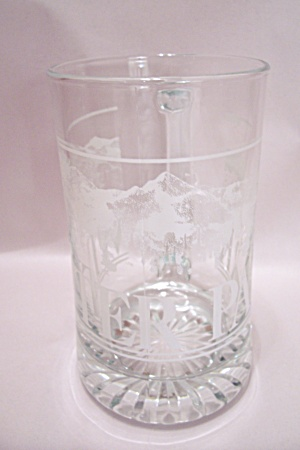 Winter Park Crystal Gflass Beer Mug