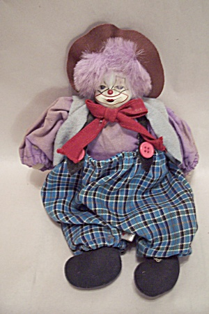 Cloth Body Clown Doll