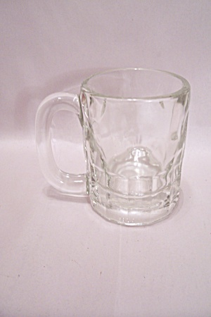 Crystal Glass Thumbprint Pattern Beer Mug