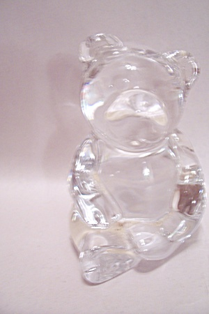 West Germany Crystal Art Glass Bear