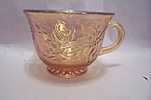 Marigold Grape Pattern Carnival Glass Punch Cup