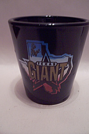 Texas Giant Black Glass Toothpick Holder