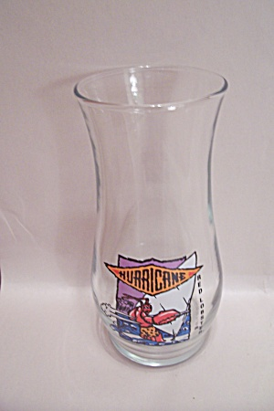 Red Lobster Hurricane Drink Glass