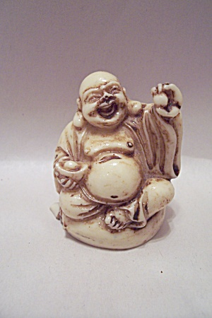 Hand Carved Ivory Sitting Buddha