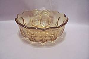 Vaseline Pattern Glass Bowl