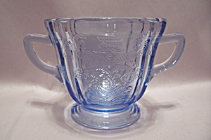 Avon Light Blue Depression-like Glass Sugar Bowl