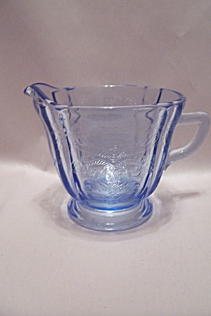 Avon Light Blue Depression-like Motif Glass Creamer