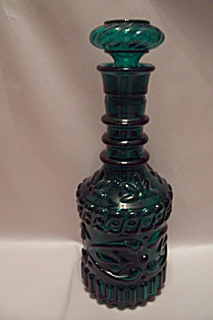 Green Glass Liquor Decanter