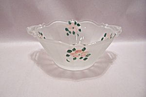 Hand Painted Satin Glass Bowl