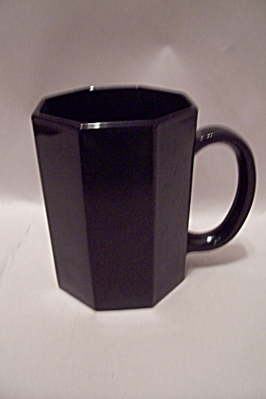 Black Glass Octagon Shaped Mug