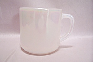 Federal Glass Company Opalescent White Glass Mug