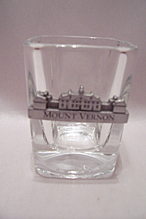 Crystal Glass Mount Vernon Toothpick Holder