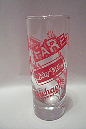 Michael's International Advertising Liquor Glass