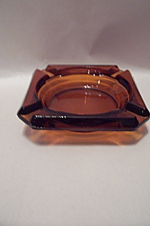 Fire King/anchor Hocking Amber Glass Ash Tray