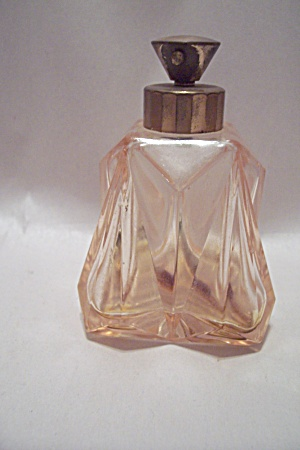 Pink Pattern Glass Perfume Bottle
