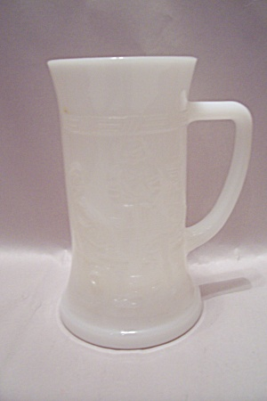 Milk Glass Beer Mug