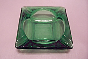 Fire King/anchor Hocking Forest Green Glass Ash Tray