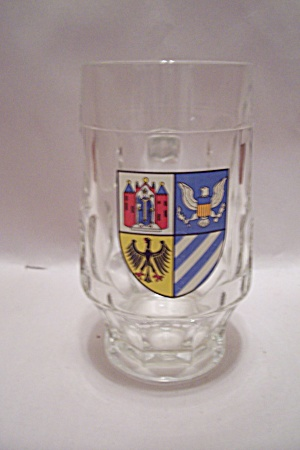 German Crystal Glass Beer Mug