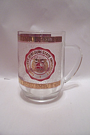 Southwest Missouri State University Glass Beer Mug