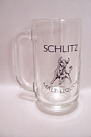 Schlitz Malt Liquor Crystal Glass Beer Mug