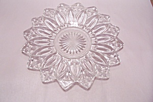 Opalescent Crystal Pattern Glass Serving Tray