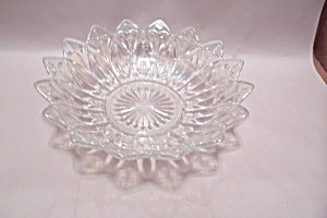 Opalescent Crystal Glass Salad Serving Bowl