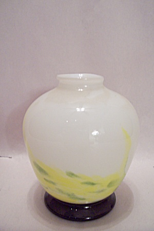 White Art Glass Vase