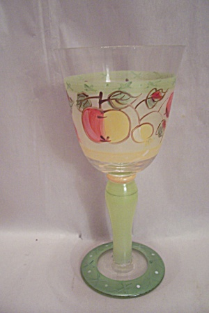 Stemware Fruit Decorated Wine Glass