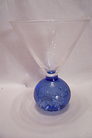 Stemware Crystal & Blue Glass Martini Glass