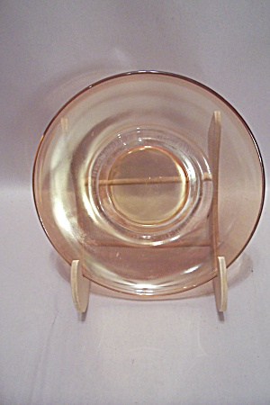 Anchor Hocking Peach Colored Glass Saucer