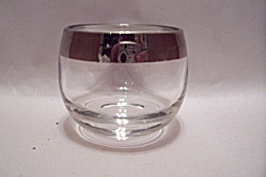 Crystal Glass Silver Rim Bar Glass