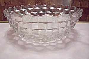 Fostoria Crystal American Pattern Glass Salad Bowl