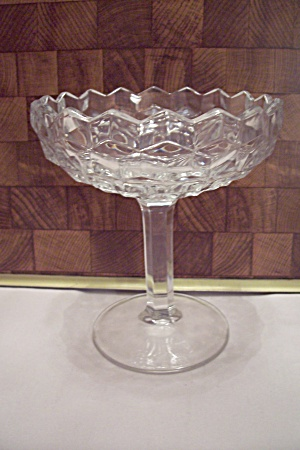 Fostoria American Pattern Crystal Glass Comport