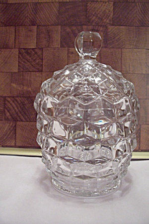 Fostoria American Pattern Crystal Sugar/candy Barrel