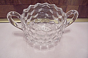 Fostoria American Pattern Crystal Glass Open Sugar