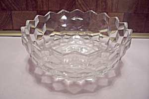Fostoria American Pattern Crystal Glass Candy Dish