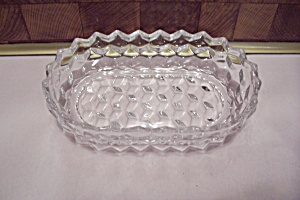 Fostoria American Pattern Crystal Glass Oval Olive Dish