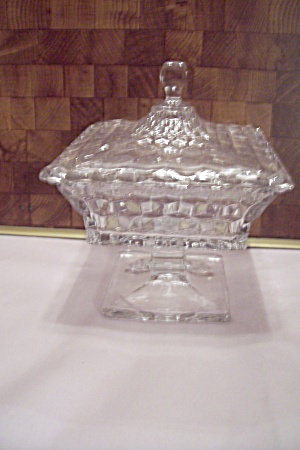 Fostoria American Pattern Glass Large Wedding Dish