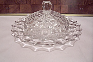 Fostoria American Pattern Glass Footed Cheese Dish