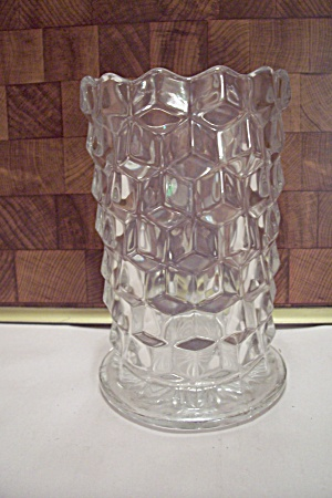 Fostoria American Pattern Crystal Glass Footed Vase