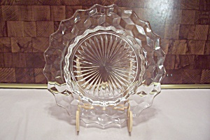 Fostoria American Pattern Crystal Glass Salad Plate