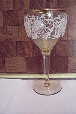 Decorated Crystal Stemware Wine Glass